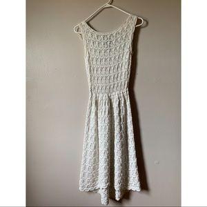 Zara Crochet Midi Dress
